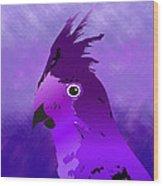 Violet Cockatiel Wood Print