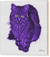 Violet Feral Cat - 9905 Fs Wood Print