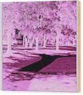 Violet Illusion Wood Print