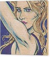 Violet Looker Wood Print