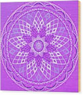 Violet Mandala Wood Print