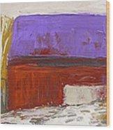 Violet Roof Wood Print