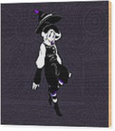 Violet Rumors Wood Print