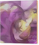 Violet Summer Pastel Abstract Wood Print