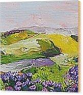 Violet Sunrise Wood Print