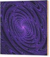 Violet Vortex-3 Wood Print