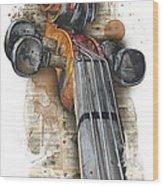 Violin 01 Elena Yakubovich Wood Print by Elena Yakubovich