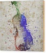 Violin Wood Print by Aged Pixel
