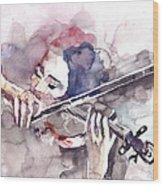 Violin Prelude Wood Print