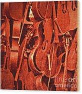 Violin Sculpture  Wood Print