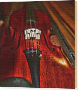Violin Study Wood Print