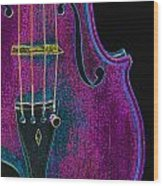 Violin Viola Body Photograph In Digital Color 3265.03 Wood Print