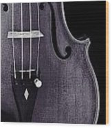Violin Viola Body Photograph Or Picture In Sepia 3265.01 Wood Print