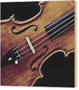 Violin Viola Photograph Strings Bridge In Color 3264.02 Wood Print