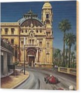 Virage De Massenet - 1959 Grand Prix De Monaco Wood Print