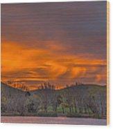 Virga At Sunrise Wood Print