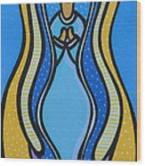 Virgen De Guadalupe Wood Print by Mary Tere Perez