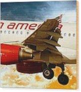 Virgin America A320 Wood Print