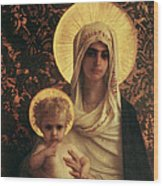 Virgin And Child Wood Print