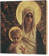 Virgin And Child Wood Print by Antoine Auguste Ernest Herbert