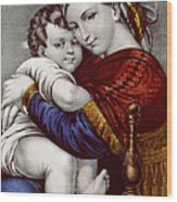 Virgin And Child Circa 1856  Wood Print