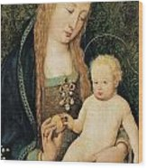Virgin And Child With Pomegranate Wood Print by Hans Holbein the Younger