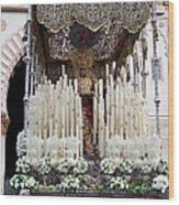 Virgin Mary In Procession Wood Print by Artur Bogacki