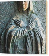 Virgin Mary Relief Wood Print