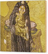 Virgin Mary With Baby Jesus Mosaic Wood Print by Artur Bogacki