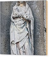 Virgin Mary With Child Wood Print by Olivier Le Queinec