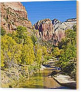 Virgin River - Zion Wood Print