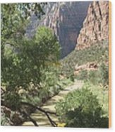 Virgin River Zion Valley Wood Print