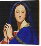 Virgin With The Host After Ingres Wood Print