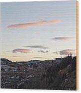 Virginia City Clouds  Wood Print