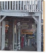 Virginia City Sidewalk  Wood Print
