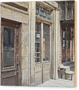 Virginia City Storefronts Wood Print