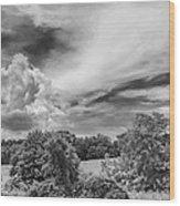 Virginia Clouds Wood Print
