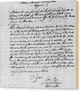 Virginia Council, 1778 Wood Print