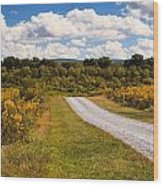 Yesterday - Virginia Country Road Wood Print