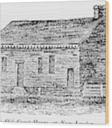 Virginia Court House Wood Print