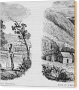 Virginia East And West Wood Print by Granger