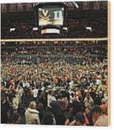 Virginia Fans Storm Court At John Paul Jones Arena Wood Print