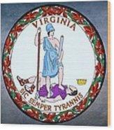 Virginia State Seal Wood Print by Movie Poster Prints