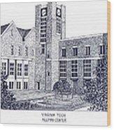Virginia Tech Wood Print