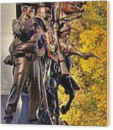 Virginia To Her Sons At Gettysburg - War Fighters - Band Of Brothers 1a Wood Print