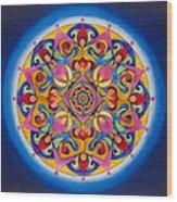 Vision - Brow Chakra Mandala Wood Print