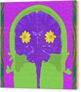 Vision Flowers In The Brain Wood Print