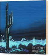 Vision Of A Desert Night Wood Print
