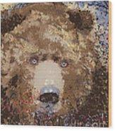 Visionary Bear Wood Print