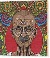 Visionary Gandhi Wood Print